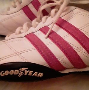 Adidas Tuscana women SZ 9 white pink leather